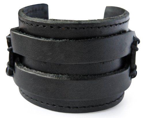 axy LAB1-1 LEDERARMBAND BREIT SERIE! ECHT LEDER Armband Vintage Leather Bracelet! Surferarmband Herren (Schwarz/ Black) - http://schmuckhaus.online/axy/schwarz-black-axy-lederarmband-breit-serie-lab1-1