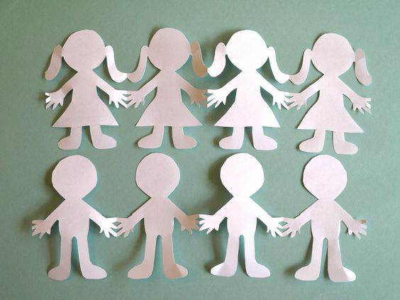 How to Make Paper People Cut Outs. If you've got scissors, paper and a pencil, making paper people cut outs is as easy as fold, draw and cut. Have fun experimenting with various silhouettes, sizes and paper color.