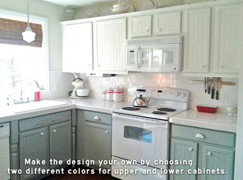 Painted Kitchen Cabinets Two Different Colors : Cabinets P1130239jpg Distressed Kitchen Cabinets Kitchen Cabinet Paint ...