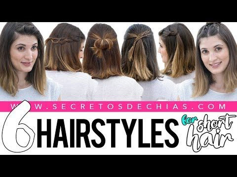 2 6 Easy And Beautiful Hairstyles For Short Hair Youtube Easy And Beautiful Hairstyles Short Hair Styles Easy Short Hair Styles