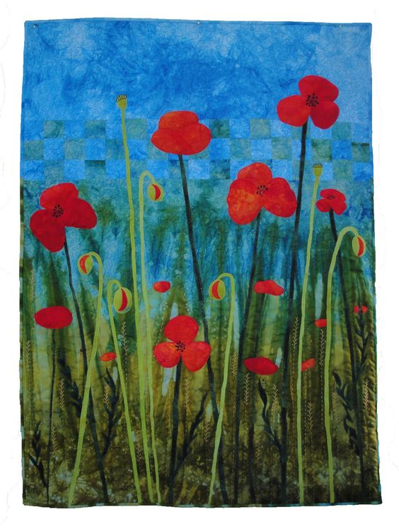 Poppy Quilt by Dijanne Cevaal | Musings of a textile itinerant