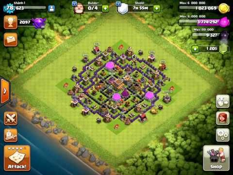Clash of Clans - GiWiVa Strategy for farming Dark Elixir at TH8