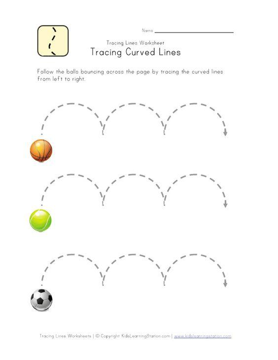 curved lines worksheet | Kids Learning | Pinterest | Worksheets ...