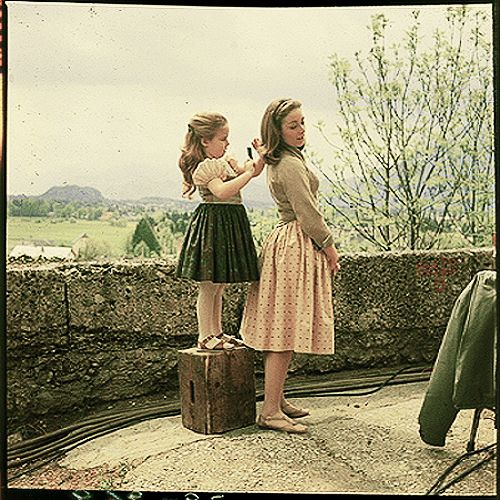 Gretl und Liesl. behind the scenes of Sound of Music :):