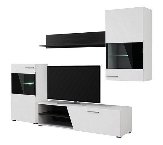 mur tv lens noir et blanc meuble tv