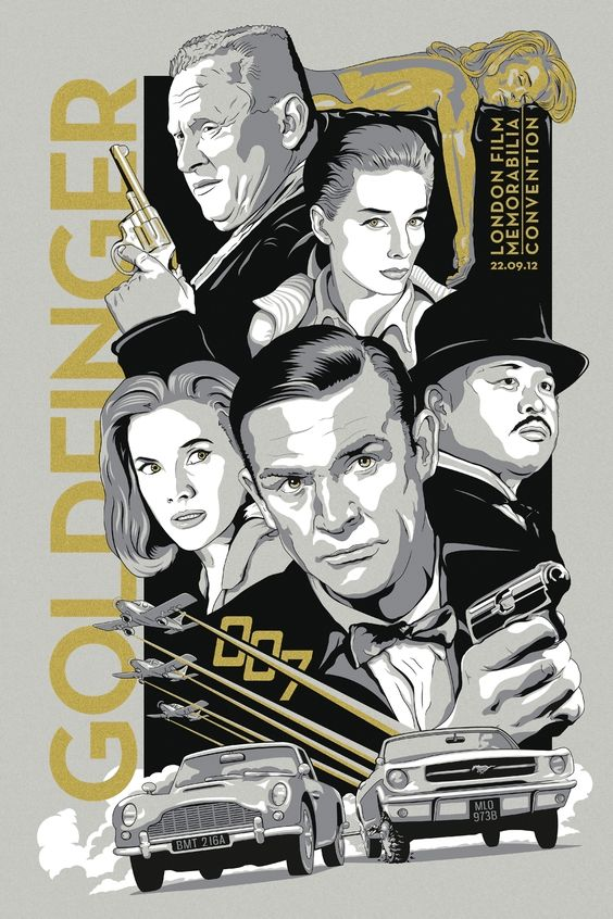 Goldfinger Day in London. 4 Colour Screen Print