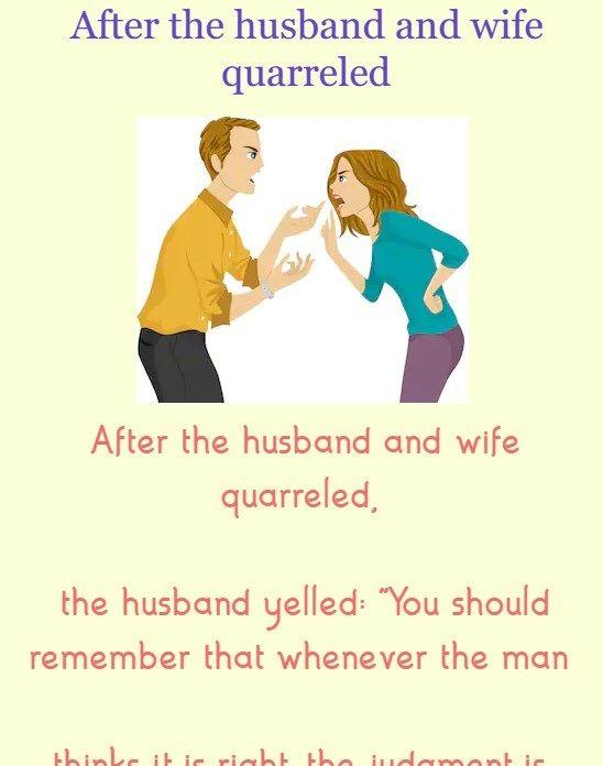Husband Wife Funny Images : husband, funny, images, After, Husband, Quarreled, (funny, Jokes), Brilliant, Tricks, #wife, #humor, #images, #tricks, Humor,, Jokes,, Humor
