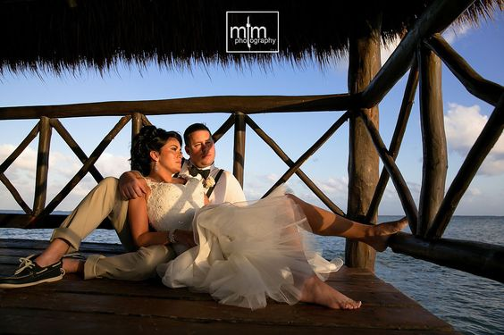 Sunset beach newlyweds. Azul Sensatori Wedding Photography. Best Destination Wedding Mexico. Wedding Photographers in Cancun, Puerto Morelos, Playa del Carmen, Puerto Aventuras, Tulum. Award winning photography ranked #1 in Mexico. Beach Wedding Ideas. Bride Style.