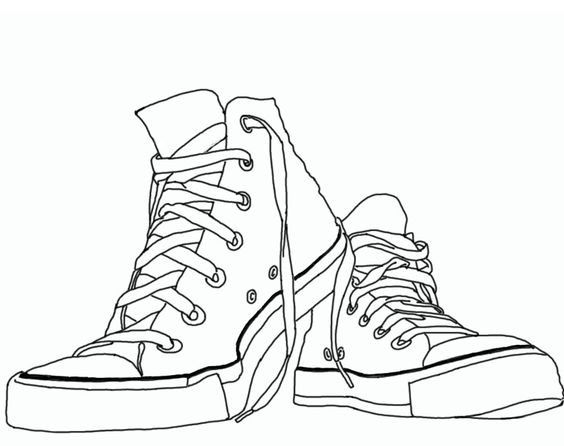 Contour Line Drawing With Color : Design converse line art by michexist on deviantart