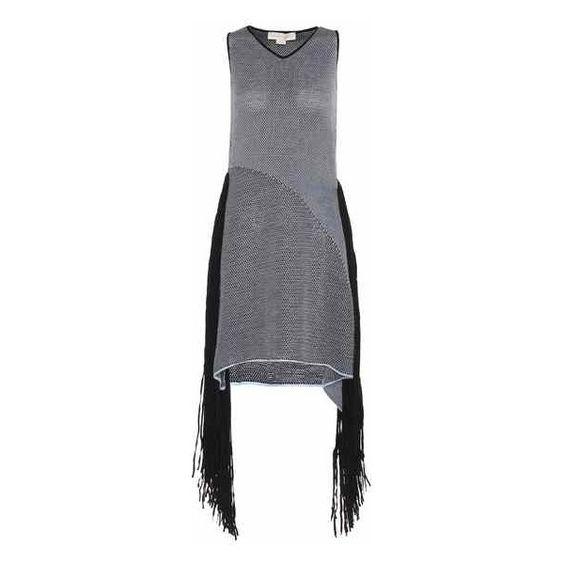 Stella McCartney Fringed Dress (5,875 CNY) ❤ liked on Polyvore featuring dresses, stella mccartney, stella mccartney dresses, blue dress and fringe dress