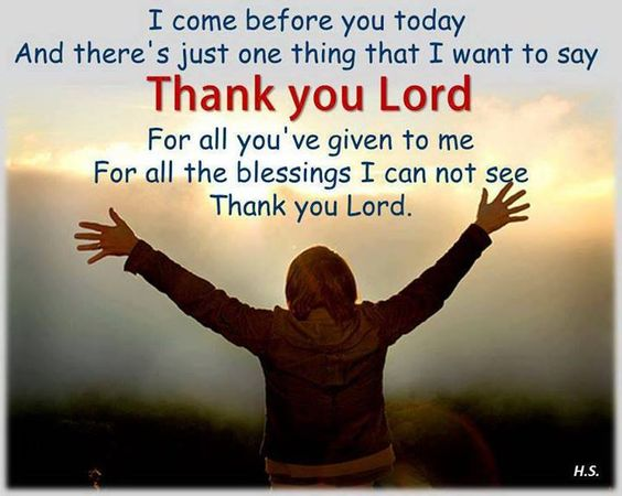 Thank You Lord For Your Blessings Https://www.facebook.com