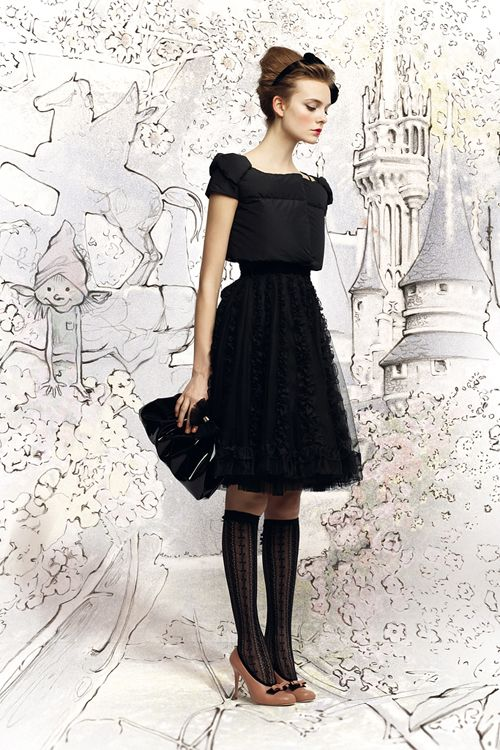 Red Valentino Fall 2012 - Sure, the dress is super cute, but I'm loving the backdrop!