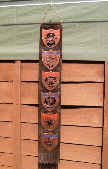 28/LXI Militaria UK – Plaque - 6 x Rhodesian Bush War Operational Plaques Suspended on a Suede Leather Strap.