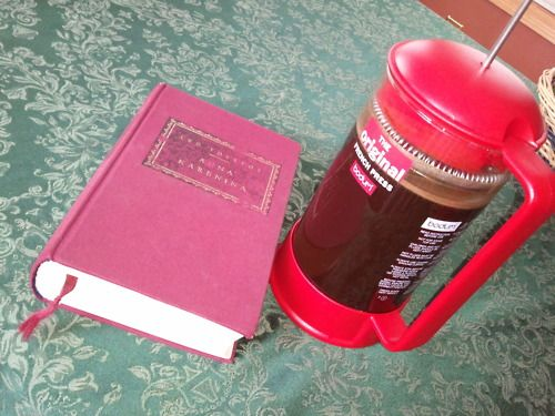 Perfect winter morning with a long Russian novel and hot french press coffee