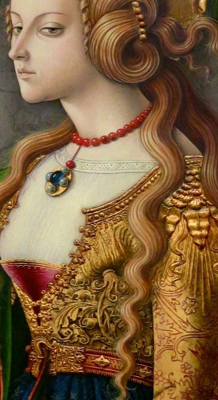 "Carlo Crivelli ""Maria Maddalena"", 1476, detail:"