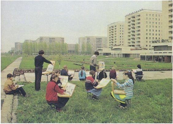 Воспитанники детской художественной школы. Новополоцк. БССР. 1985