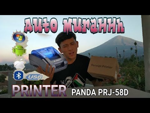 Auto Muraaaahhh Unboxing Printer Bluetooth Android Thermal 58 Mm Panda Printer Unboxing Thermal