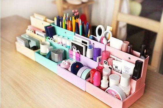 Organizador de caixinhas de papel!