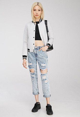Acid Wash Distressed Jeans | Forever 21 - 2000116384