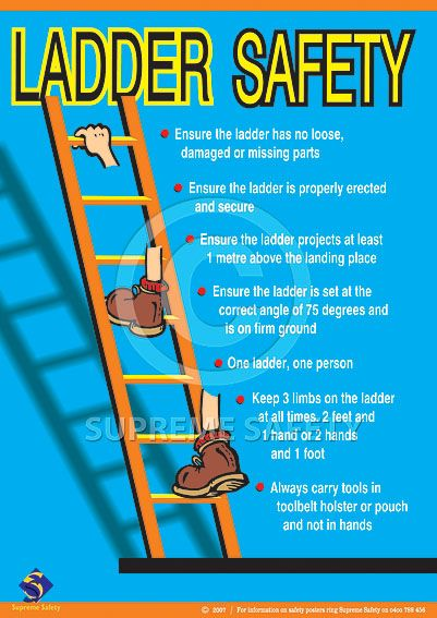 Extension Ladder Safety Tips Safety Posters Australia