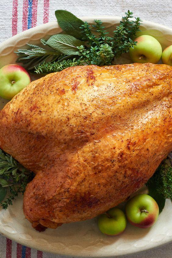 Cook half turkey breast