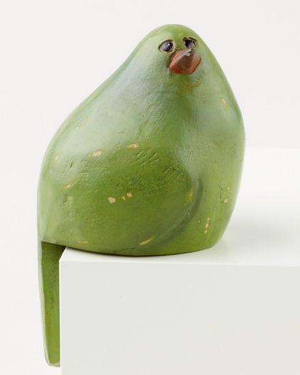 Ceramic perching bird