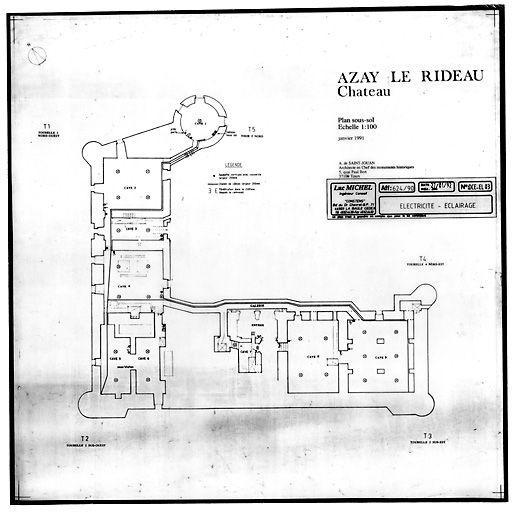 chateau d 39 azay le rideau plan of basement architectural. Black Bedroom Furniture Sets. Home Design Ideas