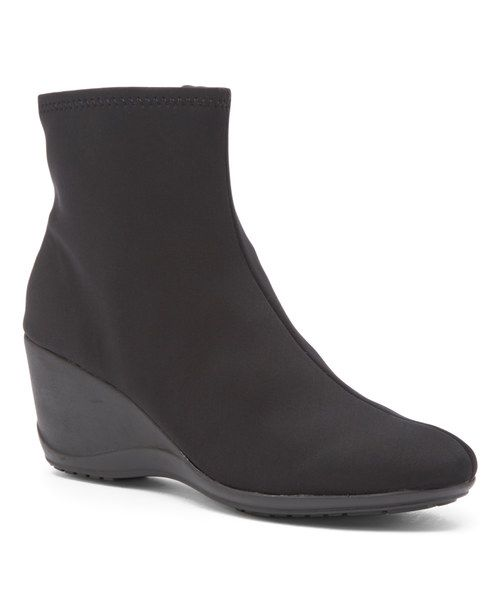 Look at this impo Black Eliah Stretch Ankle Bootie on #zulily today!