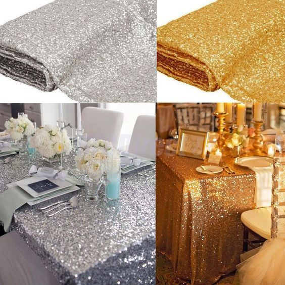 Sequin Tablecloth Square Wedding Table Linens Silver Gold Sequin Table Runner Wedding Table Linens Gold Sequin Table Runner Wedding Sequin Table Runner Wedding