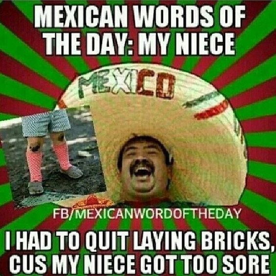 Funny Mexican Meme Tumblr : Mexican phrase of the day my niece punny