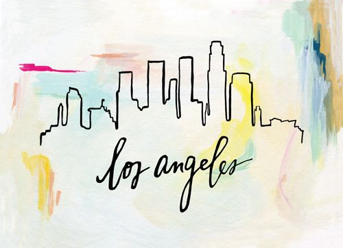 sunrise skyline print los angeles luluandgeorgia gallerywall homedecor losangeles walls pinterest los angeles angeles and printing