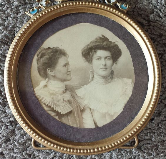 My Maternal Grand & Great Grand Mothers in a vintage frame, taken somewhere in Manitoba, Canada;  aprox. 1915
