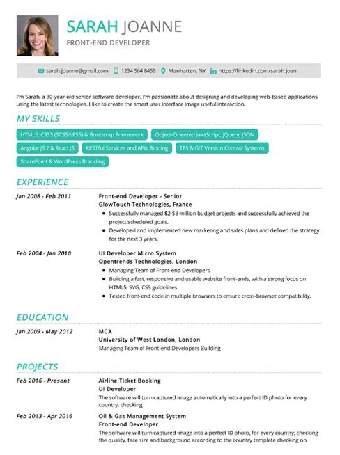 Pin By Resumekraft On Resumekraft Com One Page Resume Template Cv Template Word Simple Resume Template