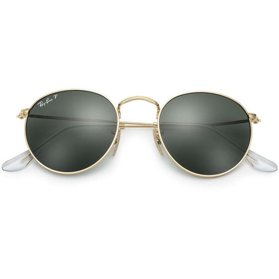 ray ban round sunglasses polarized  ray ban round metal gold sunglasses, polarized green lenses rb3447 (1,325 cny