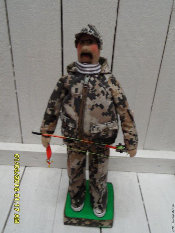 кукла текстильная рыбак