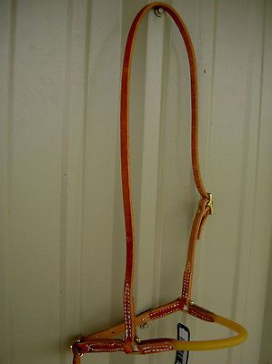 Amish USA Horse Tack Hermann Oak Leather Tubing Noseband Cavison Caveson 975H970