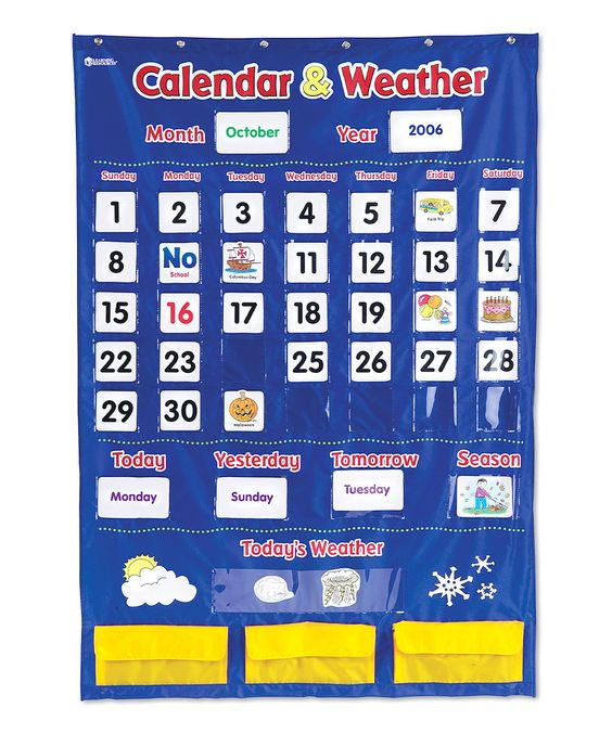This Calendar & Weather Pocket Chart by Learning Resources is perfect! #zulilyfinds