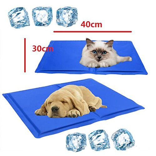 Eatingbitingi ˆri 40x30cm Pet Cooling Mat Soft Pet Chilly Gel
