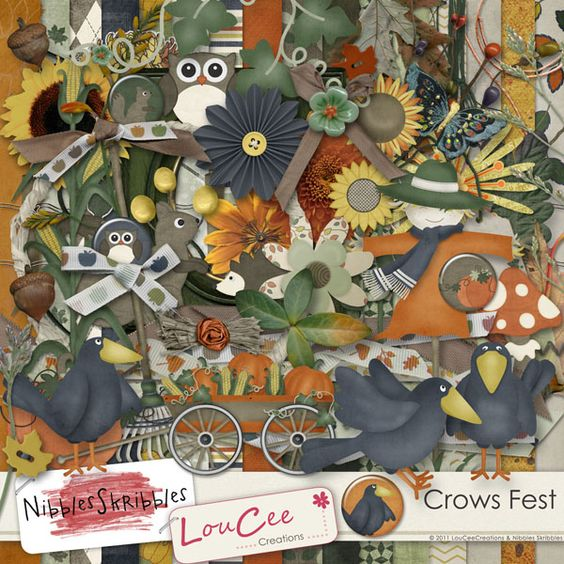 Crows Fest by #NibblesSkribbles and #LouCeeCreations available at Digital Scrapbooking Studio $5.99