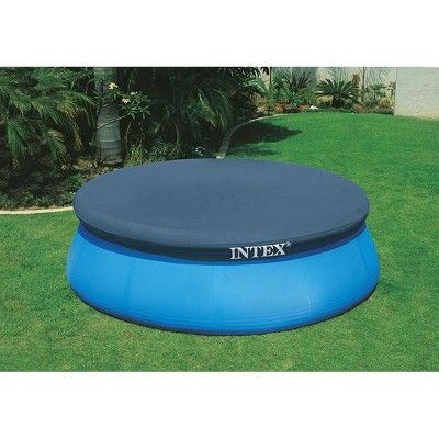 Intex 8 Foot Easy Set Above Ground Swimming Pool Debris Vinyl