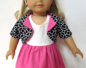 18 in. American Girl Doll Dress. Pink/purple von DollBabyDesigns1