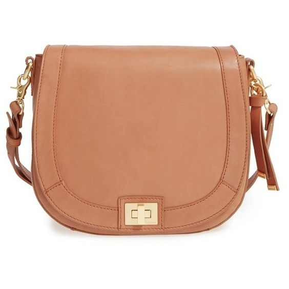 Women's Brahmin 'sonny' Leather Crossbody Bag ($285) ❤ liked on Polyvore featuring bags, handbags, shoulder bags, tan, leather handbags, leather cross body handbags, cross-body handbag, brahmin crossbody and tan leather handbags