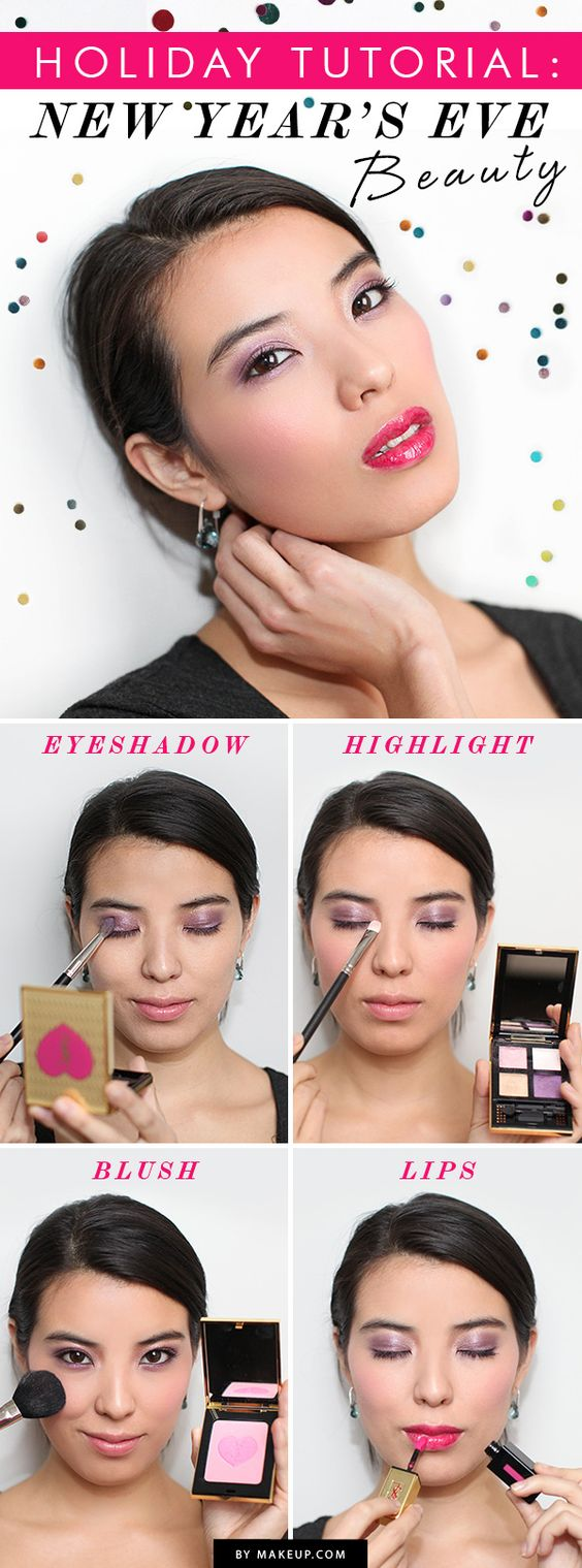 Holiday Makeup Tutorial: New Year's Eve Beauty // so pretty!