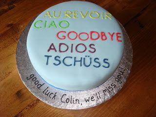 Fondant Cakes & Cupcakes: So long, farewell... Simple farewell / goodbye cake