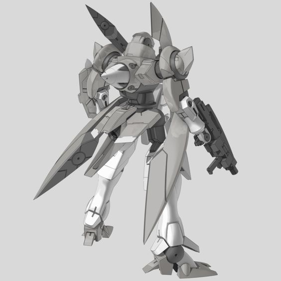 "GNX-603T GN-X (aka GN-X, pronounced ""Jinx"") is a series of mass production mobile suits by the United Nations Forces in season 1 of Mobile Suit Gundam 00. Equiped With GN Beam Rifle. Back"
