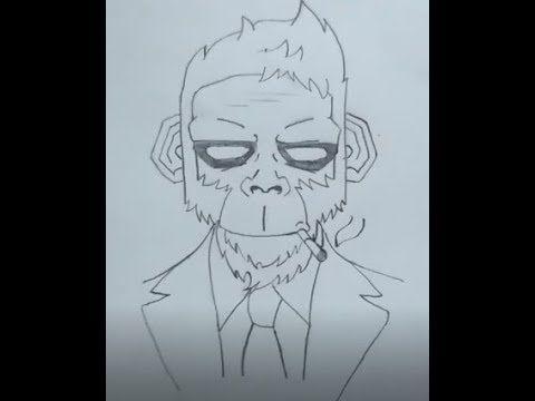 تعلم كيفية رسم وجه قرد شكرا للمشاهدة يرجى الضغط علي أعجبني و التعليق و مشاركة الفيديو اطغط Subscribe لليصلك كل جديد Enj Drawings Male Sketch Humanoid Sketch