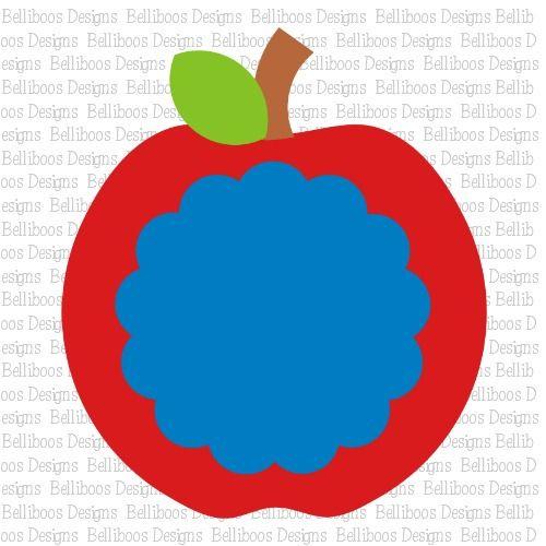 Belliboos Apple Monogam SVG