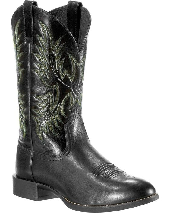 Ariat Men's Heritage Stockman Round Toe Western Boots (Free Shipping)