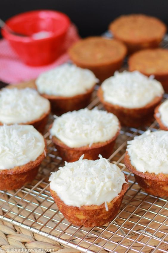Light Carrot Cake Cupcakes with Cream Cheese Frosting | Recipe ...