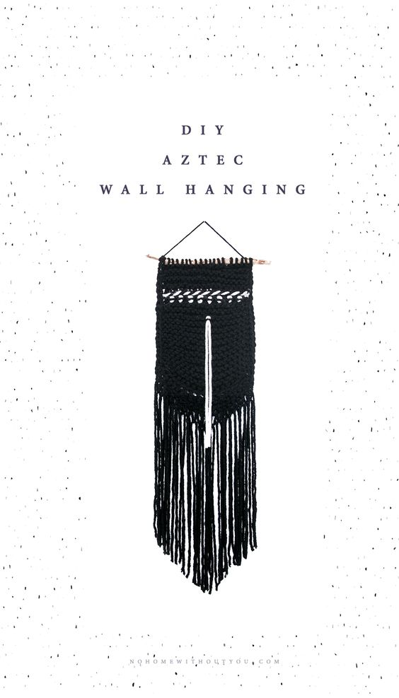DIY aztec wall hanging No home without you